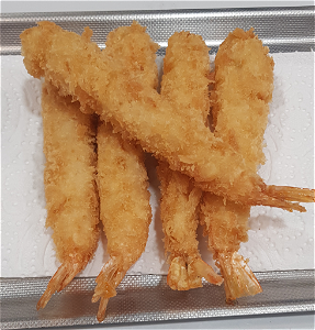 Foto 5 fried tempura shrimps