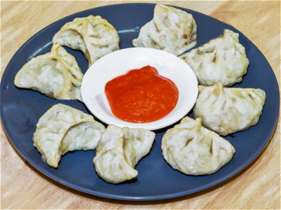 Foto Tibetan fried dumplings (halal)